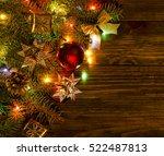 christmas light decoration | Shutterstock . vector #522487813