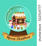 merry christmas snow globe with ... | Shutterstock .eps vector #522514777