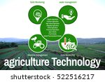 agriculture technology concept... | Shutterstock . vector #522516217