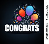 congratulations banner with... | Shutterstock .eps vector #522520237
