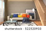 interior with sofa. 3d... | Shutterstock . vector #522520933