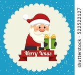 happy merry christmas santa... | Shutterstock .eps vector #522522127