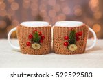 Close Up Of Two White Mugs In...