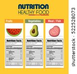 nutrition food infographic icons | Shutterstock .eps vector #522528073