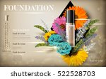 cosmetic foundation product... | Shutterstock .eps vector #522528703