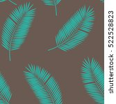 palm leaf seamless pattern... | Shutterstock .eps vector #522528823