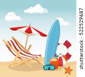 summer vacations holiday poster | Shutterstock .eps vector #522529687