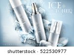 ice toner contained in silver... | Shutterstock .eps vector #522530977