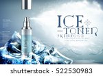 ice toner contained in light... | Shutterstock .eps vector #522530983