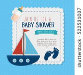 baby shower invitation card | Shutterstock .eps vector #522531037