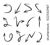 vector set of hand drawn arrows | Shutterstock .eps vector #522532987