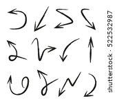 vector set of hand drawn arrows | Shutterstock .eps vector #522532987
