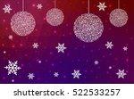 dark pink yellow christmas... | Shutterstock .eps vector #522533257