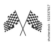 two crossed checkered flags ... | Shutterstock .eps vector #522537817
