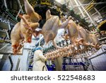 chicken meat processing factory | Shutterstock . vector #522548683
