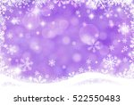 abstract winter background... | Shutterstock . vector #522550483