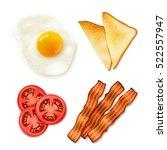 full english breakfast 4 main... | Shutterstock .eps vector #522557947