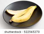 Banana Peel  On A Dish Over...