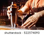 male bartender is making... | Shutterstock . vector #522574093