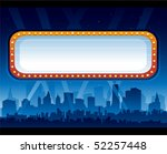 theater sign | Shutterstock .eps vector #52257448