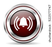 alarm icon chrome border round... | Shutterstock . vector #522577747