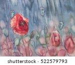 Poppy In The Rain