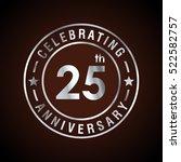 twenty five anniversary... | Shutterstock .eps vector #522582757