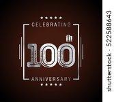 one hundred anniversary... | Shutterstock .eps vector #522588643