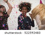 confetti party happy young... | Shutterstock . vector #522592483