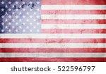 grunge usa flag | Shutterstock . vector #522596797
