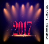 vector 2017 happy new year. | Shutterstock .eps vector #522599107