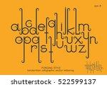 vector alphabet set. lowercase... | Shutterstock .eps vector #522599137