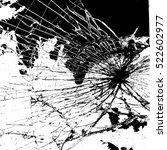 broken glass overlay texture... | Shutterstock .eps vector #522602977