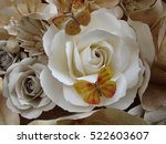 texture of paper white roses | Shutterstock . vector #522603607