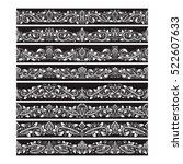 black white vintage elements... | Shutterstock .eps vector #522607633