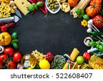 italian food ingredients.... | Shutterstock . vector #522608407