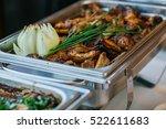food wedding catering  | Shutterstock . vector #522611683