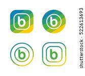 letter b nature logo   Shutterstock .eps vector #522613693