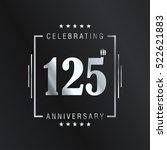 one hundred and twenty five... | Shutterstock .eps vector #522621883