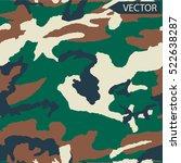 vector camouflage pattern... | Shutterstock .eps vector #522638287