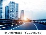 metropolitan expressway  motion ... | Shutterstock . vector #522645763
