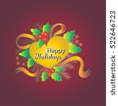happy holidays. christmas...   Shutterstock .eps vector #522646723