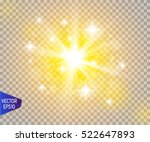 glow light effect. star burst... | Shutterstock .eps vector #522647893