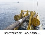 underwater pipe laying activity ... | Shutterstock . vector #522650533