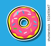 donut vector icon isolated on... | Shutterstock .eps vector #522650647