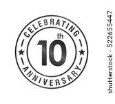 ten anniversary celebration... | Shutterstock .eps vector #522655447