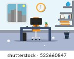 illustration of office with a... | Shutterstock .eps vector #522660847