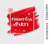 'christmas party' sign text... | Shutterstock .eps vector #522661093