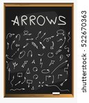 hand drawn arrows set. arrows... | Shutterstock .eps vector #522670363