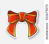 vector illustration. red bow... | Shutterstock .eps vector #522675073